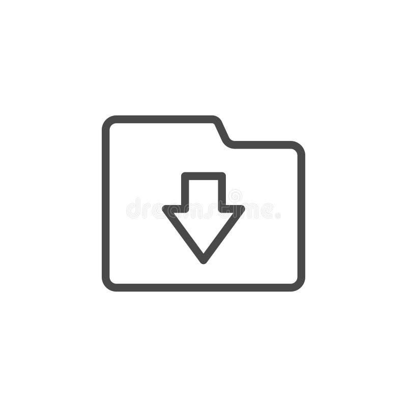 Download, omslag vectorpictogram Het minimalistische overzichts vectorpictogram van verschillende media vector illustratie