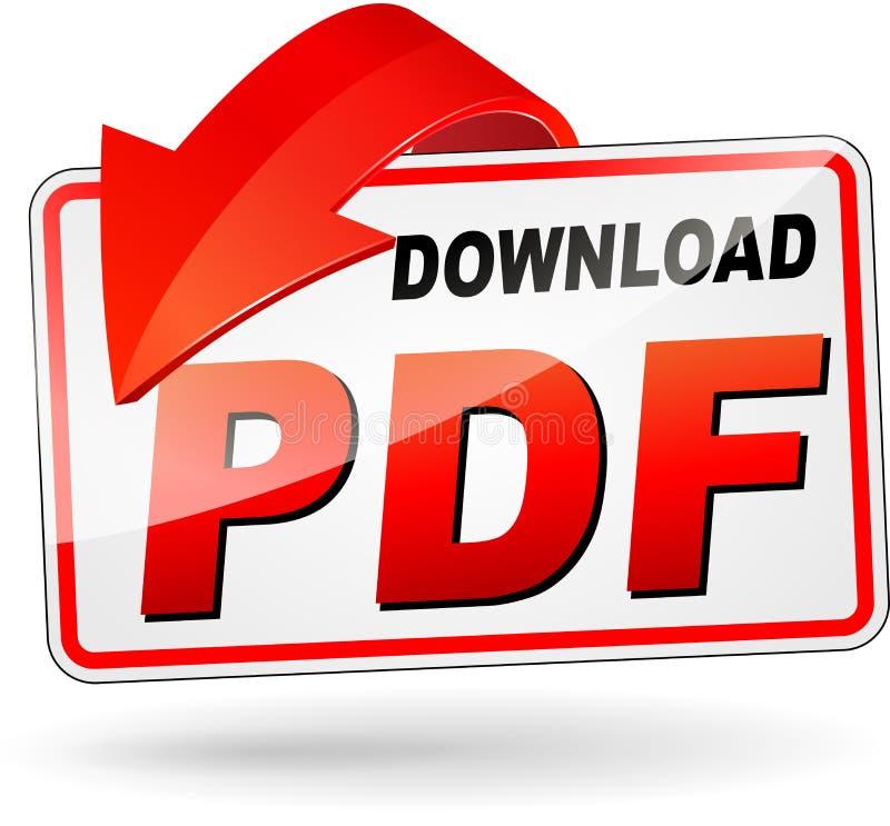 Download pdf design icon. Illustration of red download pdf design icon stock illustration