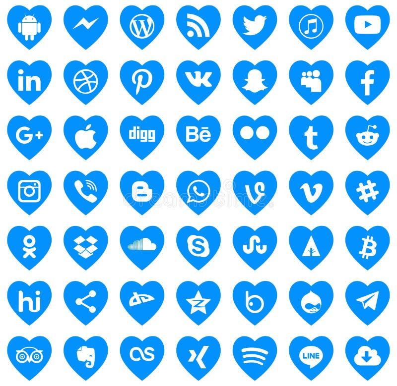 Download-Social Media-Ikonen Vektorliebe lizenzfreie abbildung