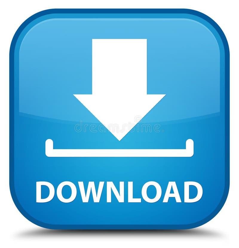 Download speciale cyaan blauwe vierkante knoop royalty-vrije illustratie