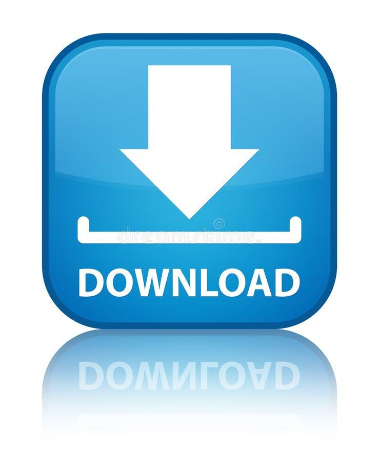 Download speciale cyaan blauwe vierkante knoop stock illustratie