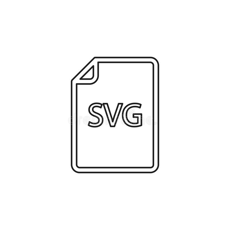 Download SVG document icon - vector file format. Symbol. Thin line pictogram - outline editable stroke royalty free illustration
