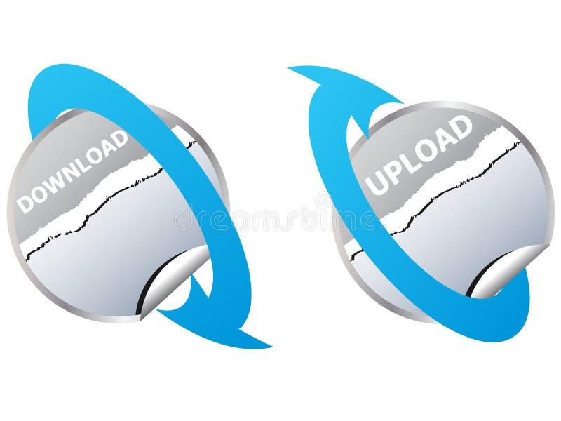 Download- und Antriebskrafttasten vektor abbildung