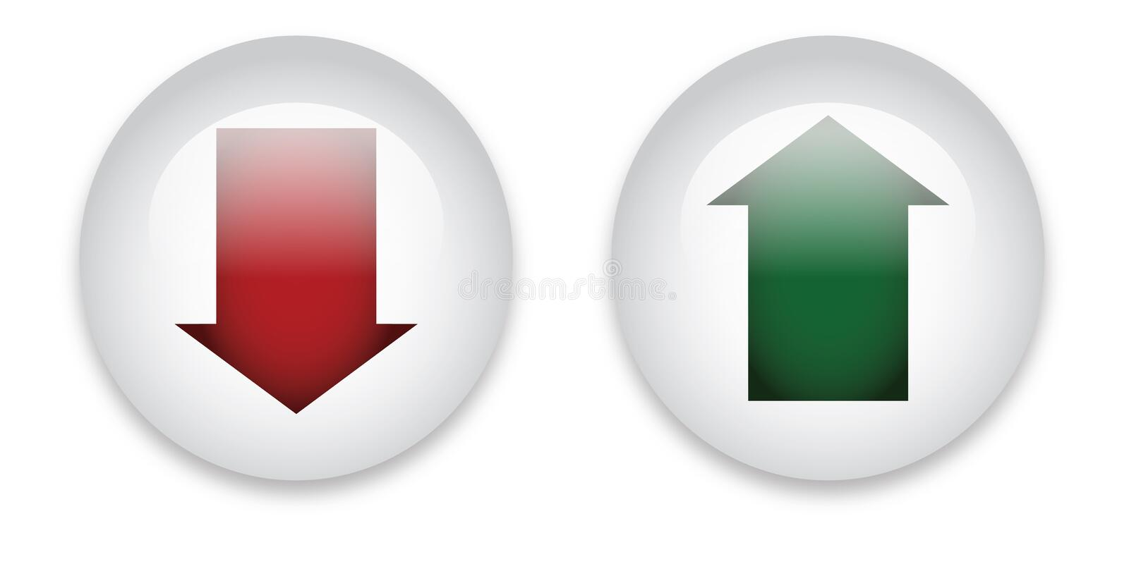 Download Download And Upload Buttons Stock Vector - Illustration of vector, downloads: 23201578