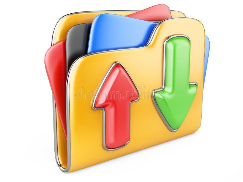 Download - upload omslag 3d pictogram. stock illustratie