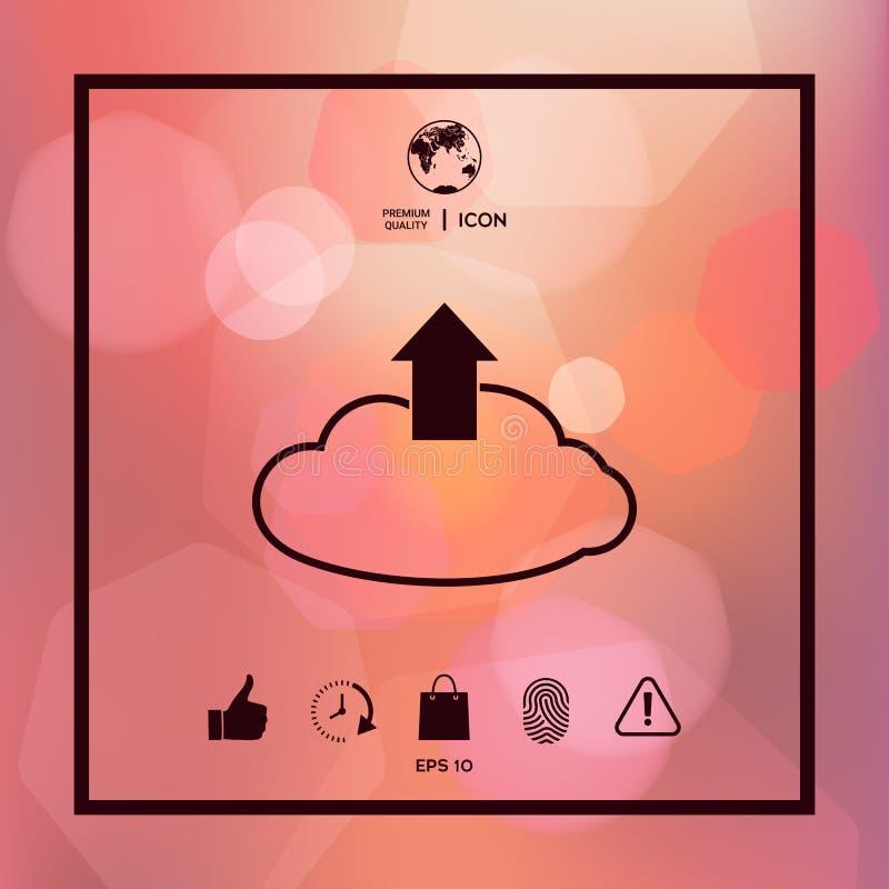 Download van de wolk royalty-vrije illustratie