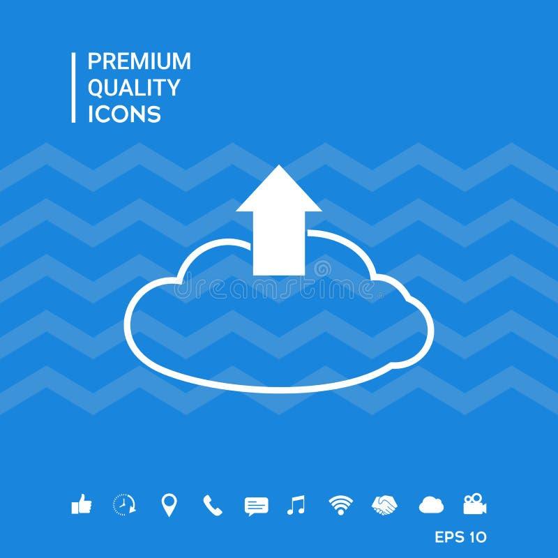 Download van de wolk stock illustratie