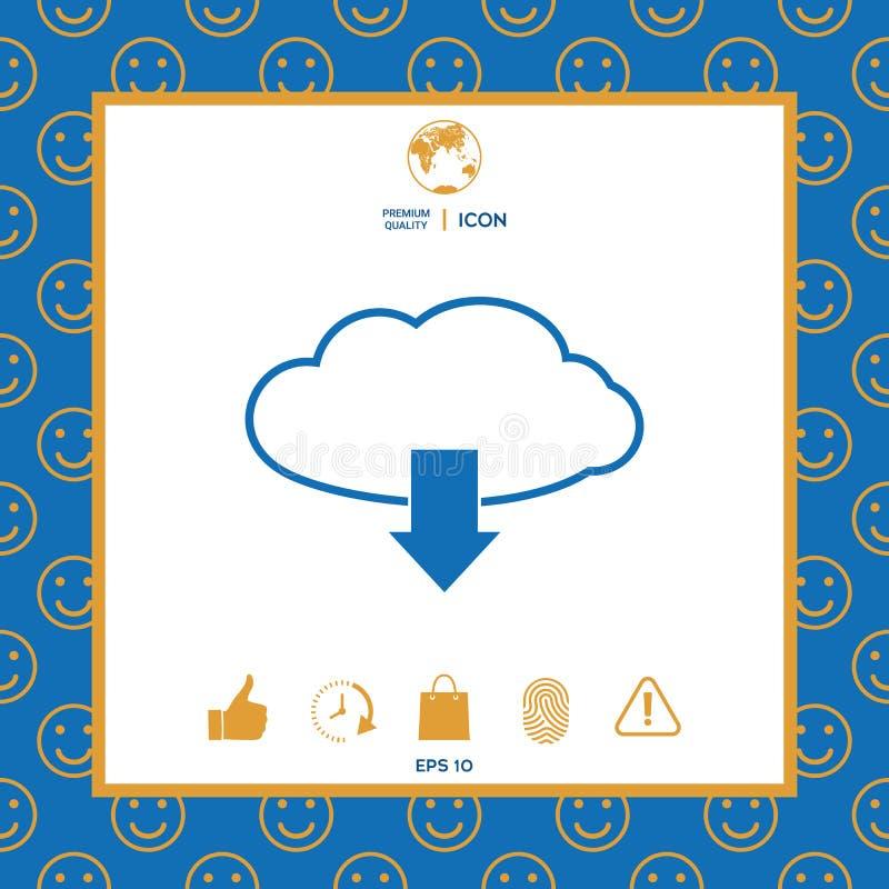 Download van wolk vector illustratie