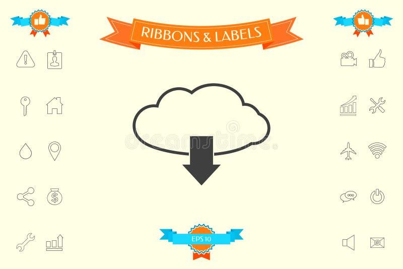 Download van wolk stock illustratie