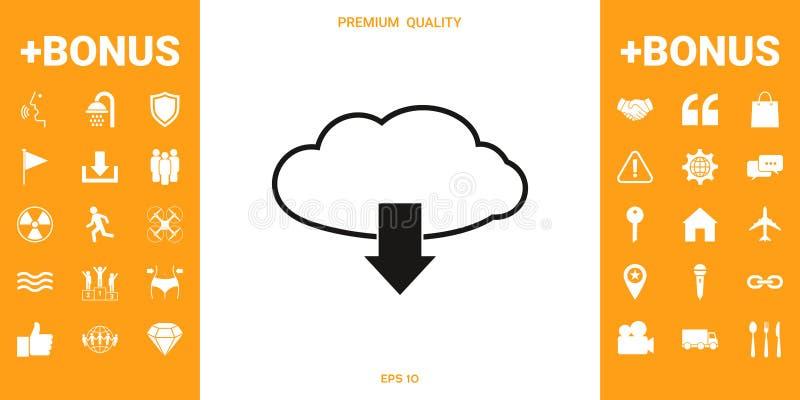 Download van wolk royalty-vrije illustratie