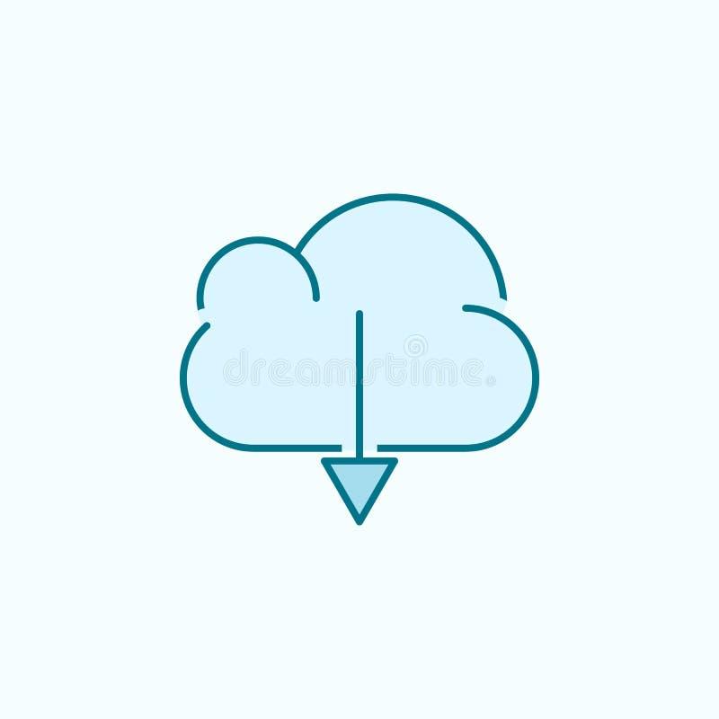 download van wolk 2 rassenbarrièrepictogram Eenvoudige kleurenelementillustratie download van het ontwerp van de wolkenoverzichts royalty-vrije illustratie