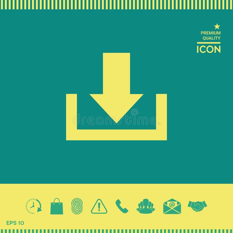 Download van wolkenpictogram stock illustratie