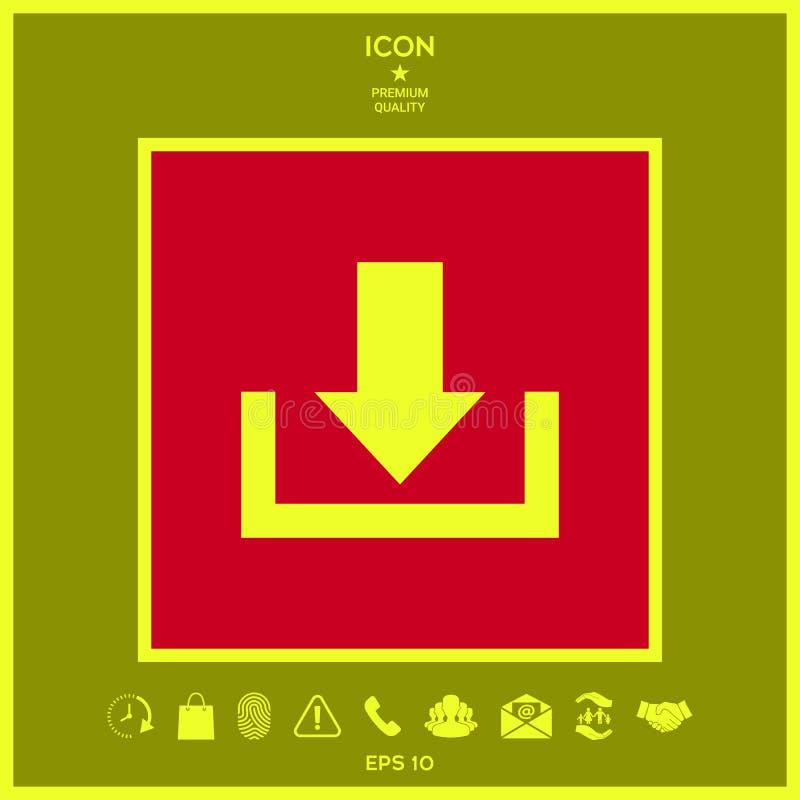 Download van wolkenpictogram royalty-vrije illustratie