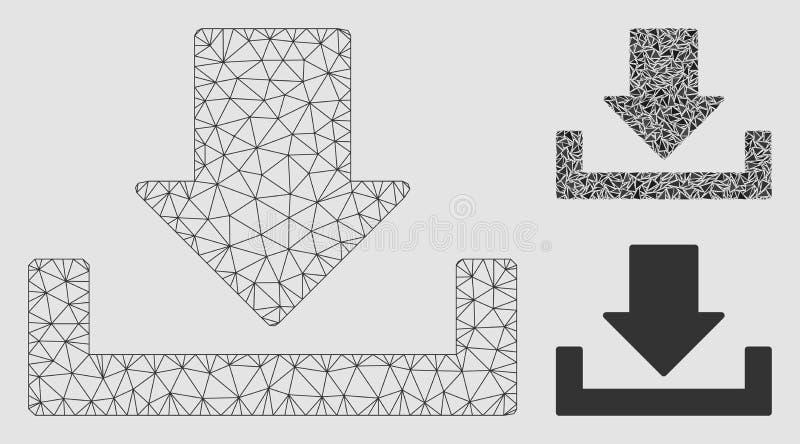 Download Vector het Mozaïekpictogram van Mesh Network Model en van de Driehoek stock illustratie
