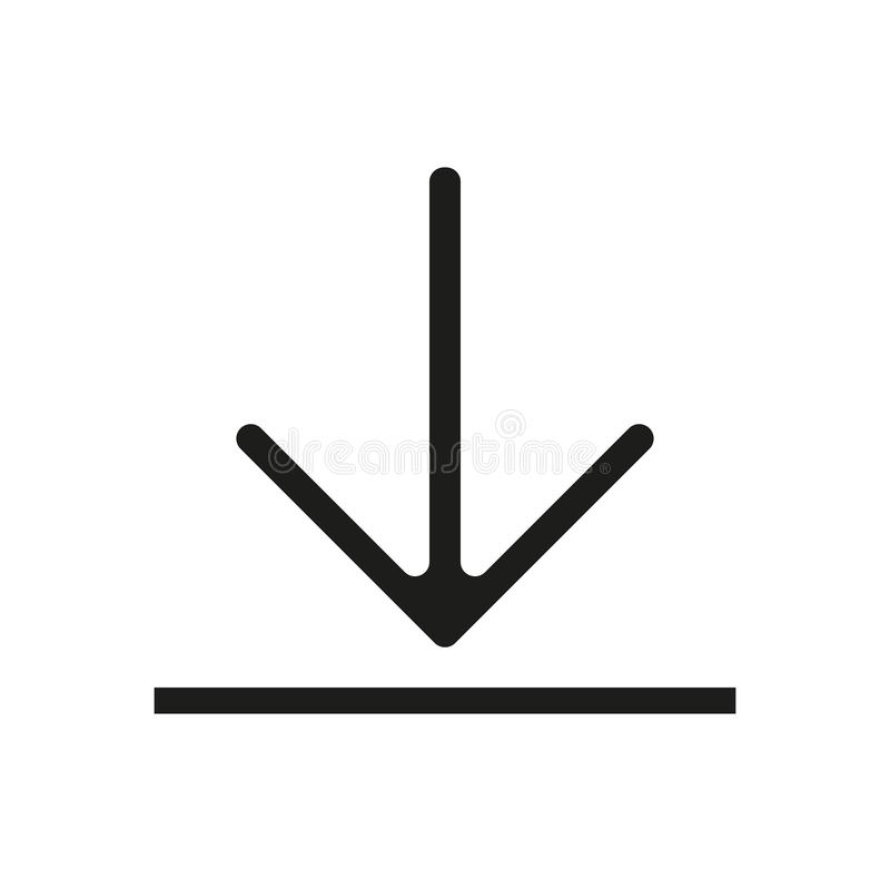 Download vector icon, install symbol. Modern, simple flat vector illustration for web site or mobile app eps10. Download vector icon, install symbol. Modern stock illustration