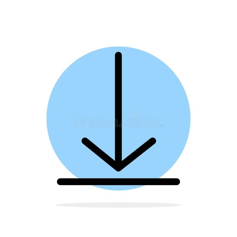 Download, Video, de Cirkel van Achtergrond Twitter Abstract Vlak kleurenpictogram stock illustratie