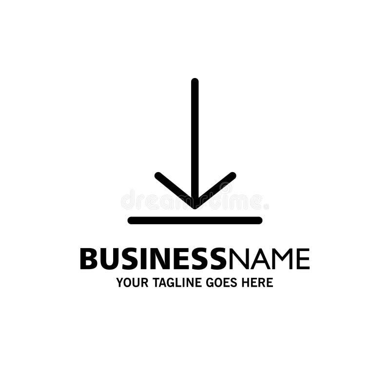 Download, Video, Twitter-Zaken Logo Template vlakke kleur royalty-vrije illustratie