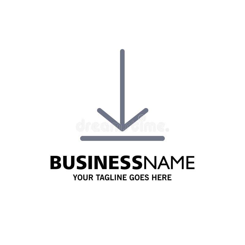 Download, Video, Twitter-Zaken Logo Template vlakke kleur vector illustratie