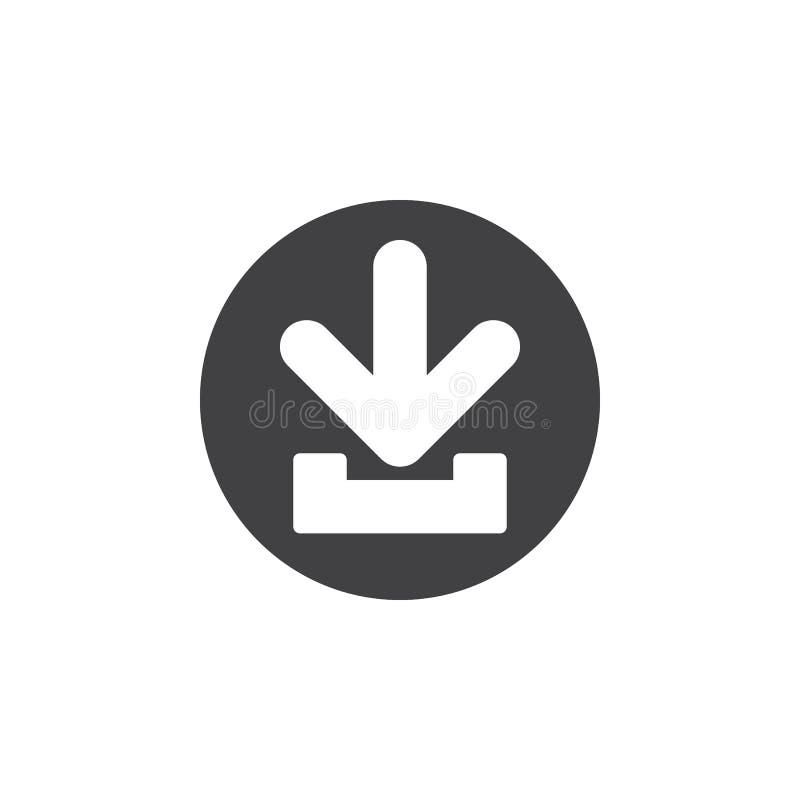 Download vlak pictogram Ronde eenvoudige knoop, cirkel vectorteken stock illustratie