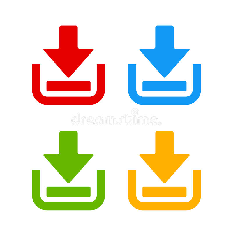 Download web icon. S set vector illustration royalty free illustration