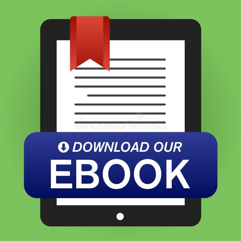 Download Whitepaper of Ebook Grafisch met Vervangbare Titel, Dekking, en CTAs vector illustratie