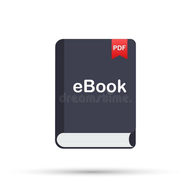 Downloadboek E-book marketing, inhoud marketing, ebook download Vector illustratie vector illustratie