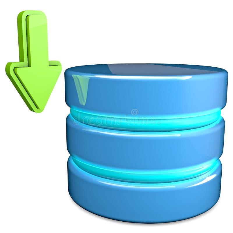 Downloaddatabase stock illustratie