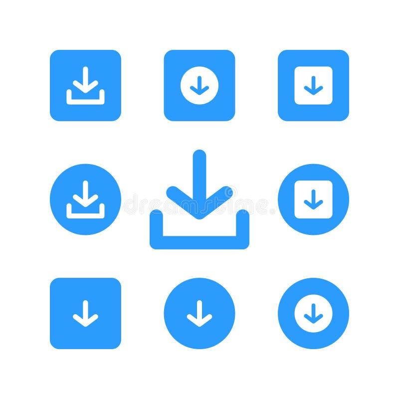 Downloadikonenvektor-Logo Ikone vektor abbildung