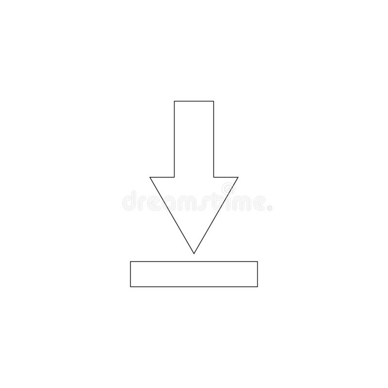 downloading Flache Vektorikone vektor abbildung