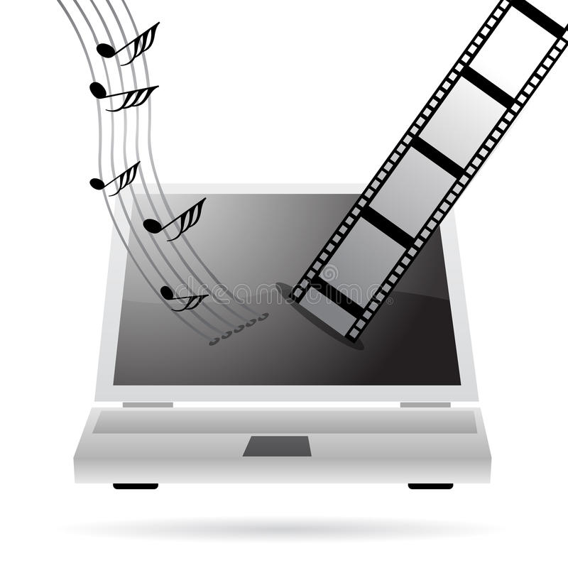 Download Downloading Music And Movies Stock Vector - Image: 11636546