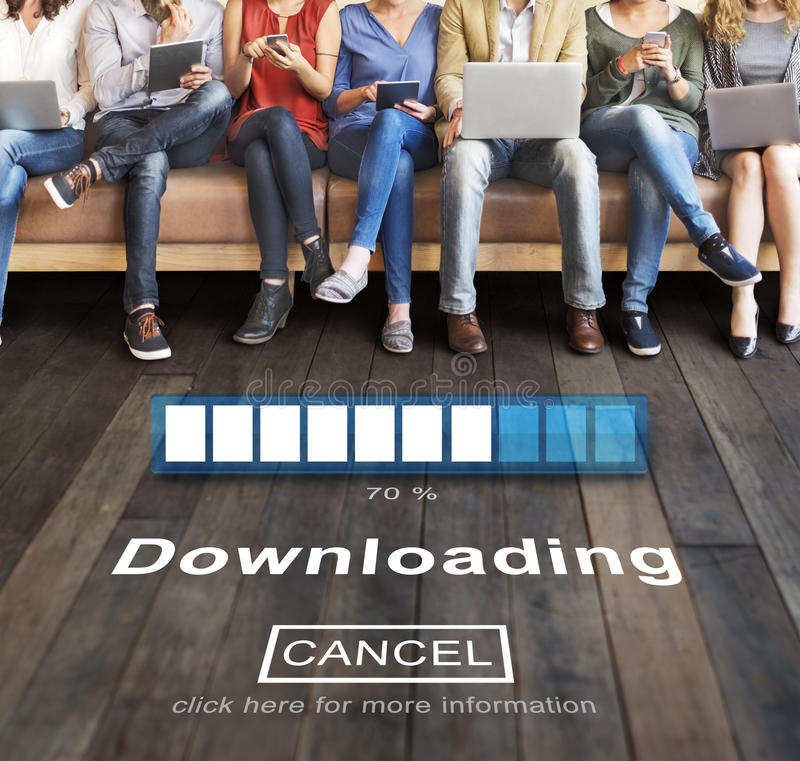 Downloading Transferring Network Information Technology Concept royalty free stock photos