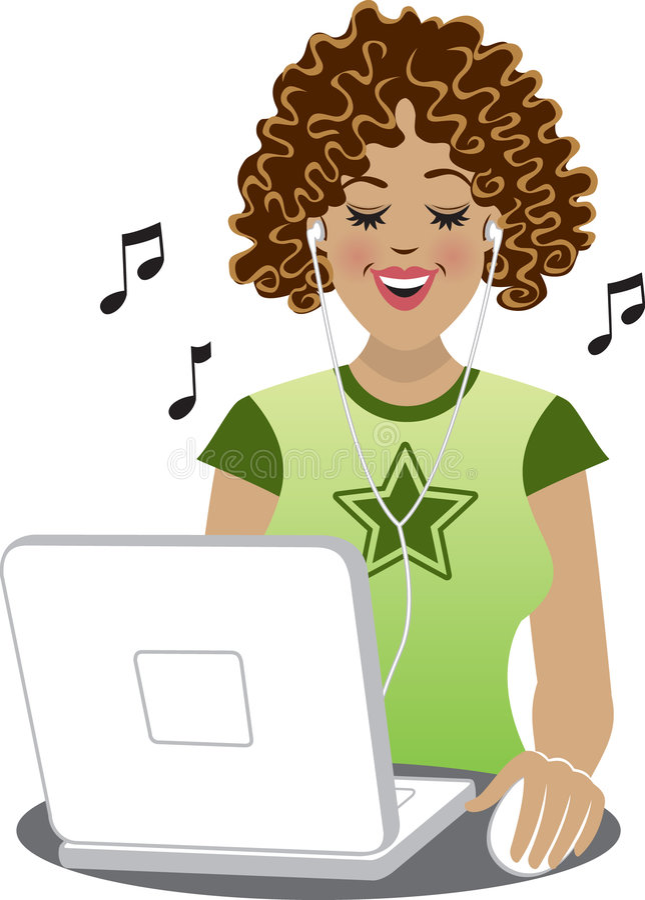 Download Downloading Tunes stock illustration. Illustration of upload - 2442911