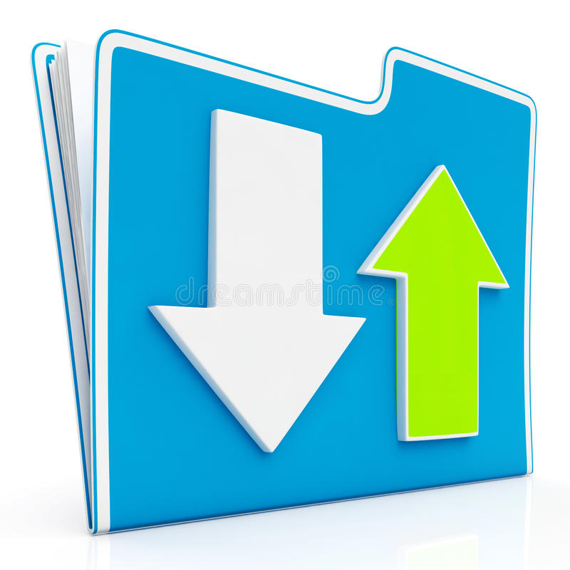 Downloading And Uploading Data Icon Royalty Free Stock Photo
