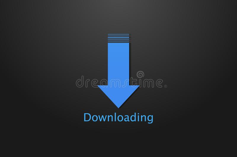 Downloadingikonenhintergrund stock abbildung