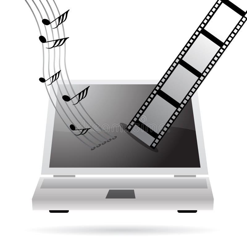 Downloadingmusik und -filme vektor abbildung