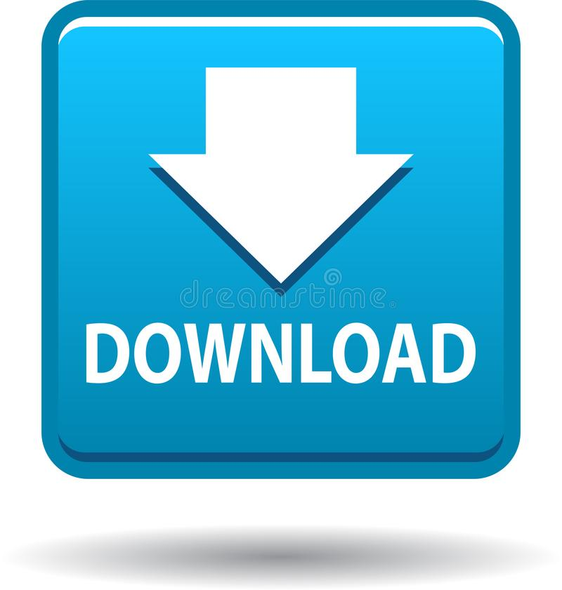 Downloadknopfnetz-Ikonenblau vektor abbildung