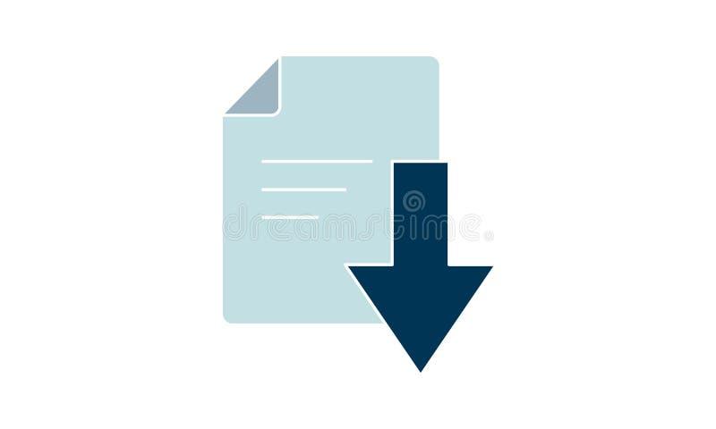 Downloadpictogram document Logo van hoge kwaliteit voor het ontwerp van websites en mobiele apps Vectorillustratie op een witte a royalty-vrije illustratie