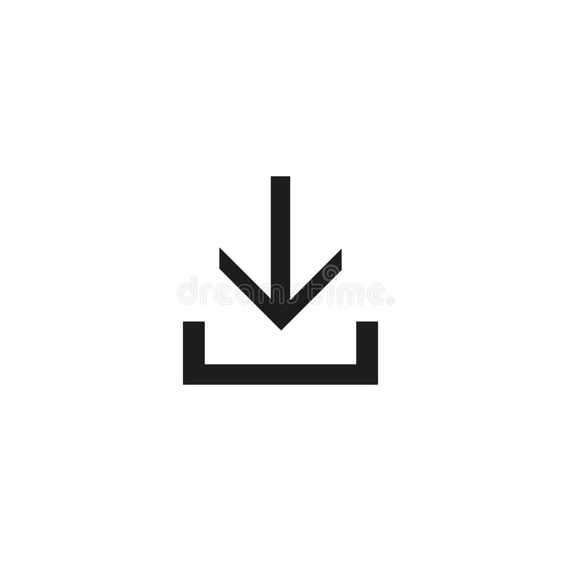 Downloadpictogram, het vectormalplaatje van de ontwerpinspiratie voor interface en om het even welk doel stock illustratie
