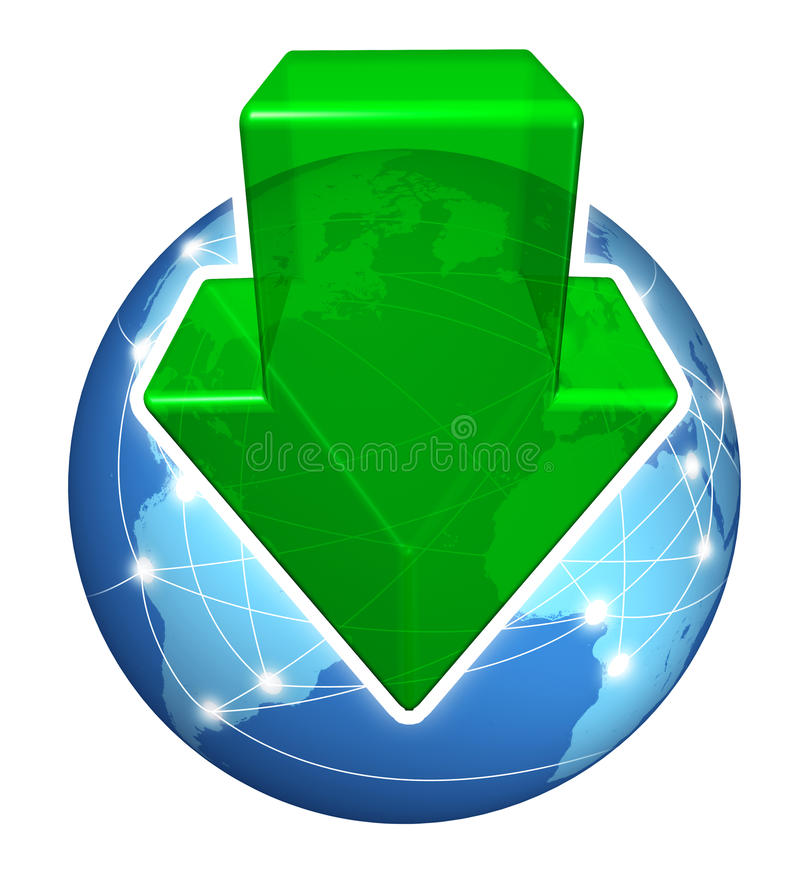 Downloads globais de Digitas ilustração stock