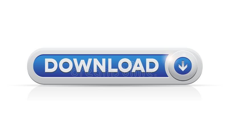 Downloadtastenweb-Auslegungelement. vektor abbildung