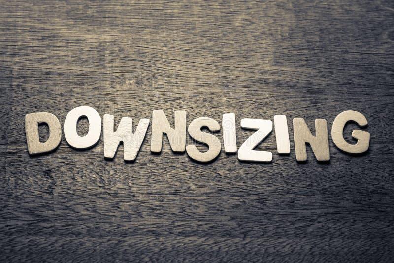 'downsizing' royalty-vrije stock fotografie