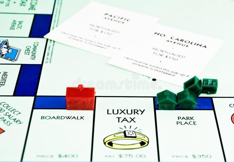 Downsizing hipoteka zmniejsza zdjęcie royalty free