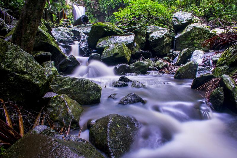 Downstream of Curtis Falls royalty free stock photos