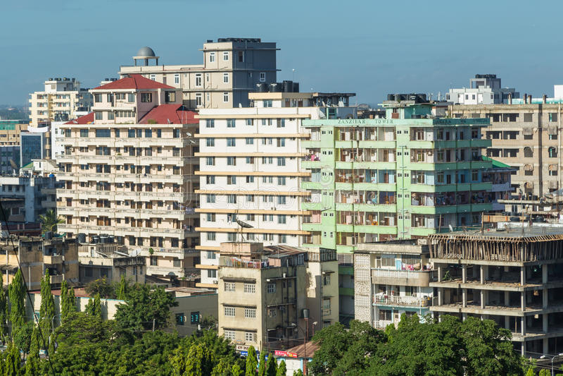 Downtowm Dar Es Salaam fotografie stock