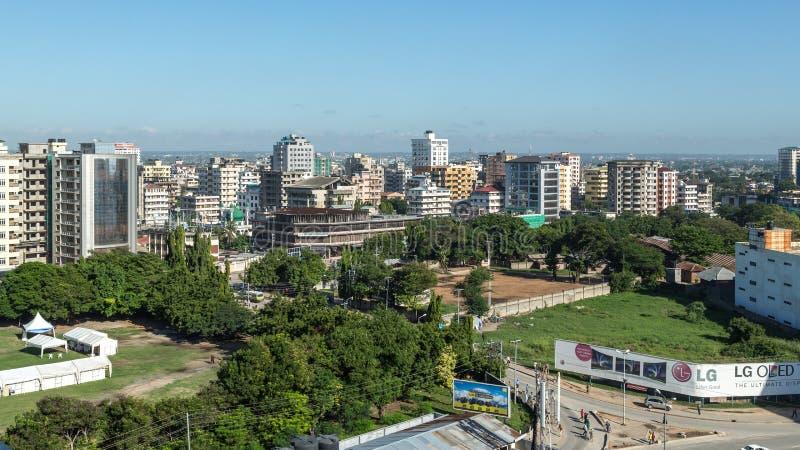 Downtowm Dar Es Salaam immagine stock libera da diritti
