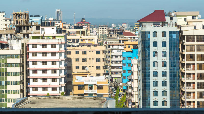 Downtowm Dar Es Salaam immagini stock libere da diritti
