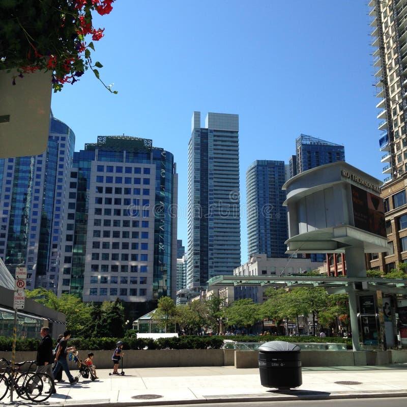 downtown stockbild