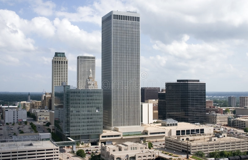 Downtown from above 01 stock photo