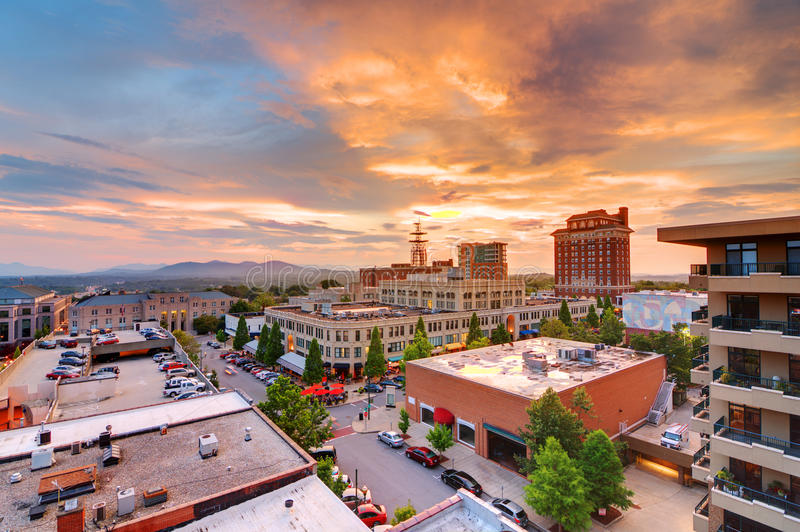 Downtown Asheville. North Carolina at Grove Arcade royalty free stock photography