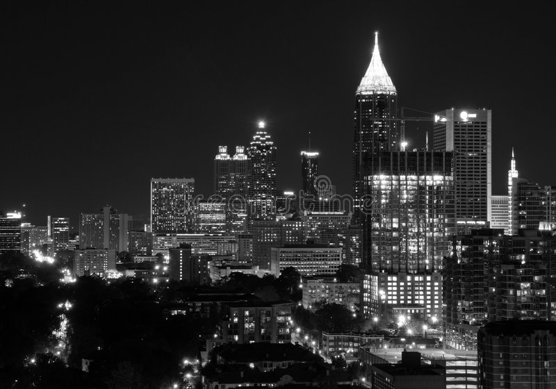 Downtown Atlanta royalty free stock images